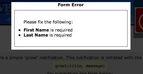 Make the Web Growl using jQuery