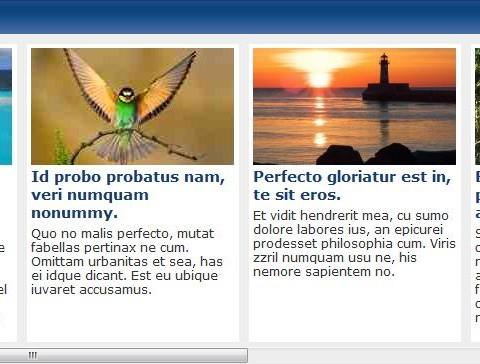 A Scrolling News Region