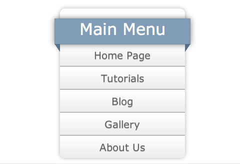 A CSS3 Vertical Menu With A Ribbon