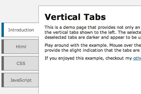 Simple Veritcal Tabs